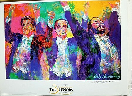 """""""The Tenors""""  Double Signed By LeRoy Neiman AR203"""