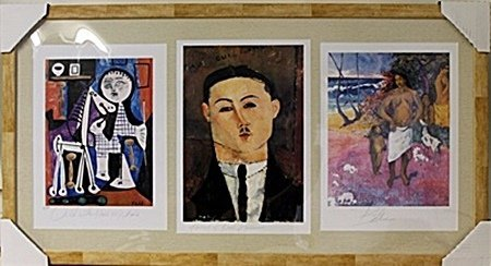 Framed 3-in-1 Picasso, Paul Guillaume and Paul Gauguin