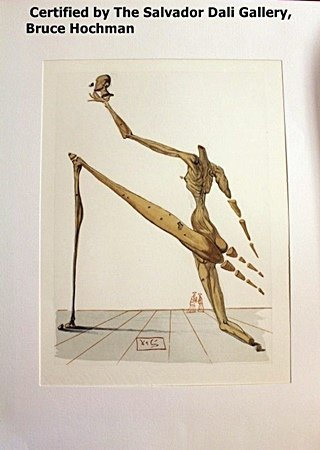 Plate Signed Wood Block By Dali- Inferno 28