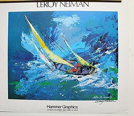 Sailboat Double Signed By LeRoy Neiman AR231