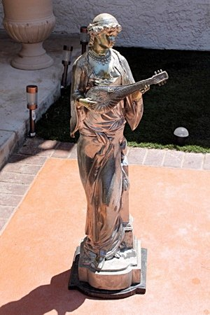 Large Bronze Statue- Girl with Lute by Moreau