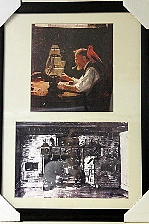 Framed 2-in-1 Norman Rockwell Lithographs