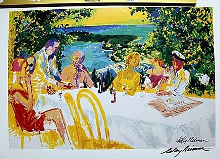 Brunch  Double Signed By LeRoy Neiman AR212