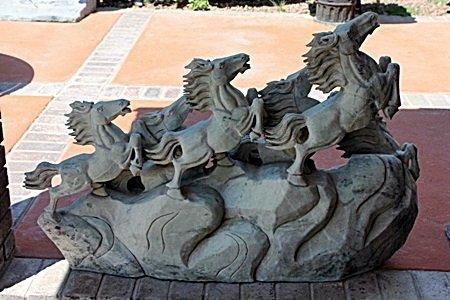 Large Jade Statue-Horses