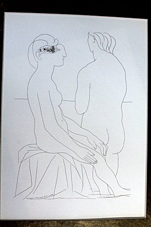 """Two Nudes"" Lithograph by Pablo Picasso (73DC)"