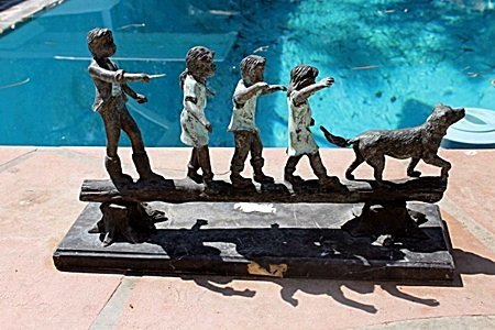 Large Bronze Sculpture- Little Kids