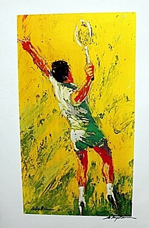 Tennis Player  Double Signed By LeRoy Neiman AR228