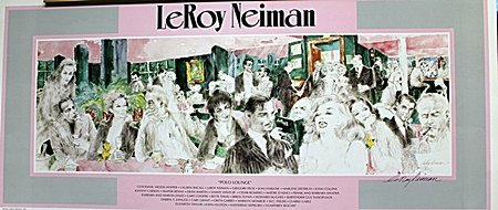 """""""Polo Lounge""""  Double Signed By LeRoy Neiman AR4316"""