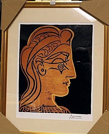 Framed Picasso- Untitled (2BO)