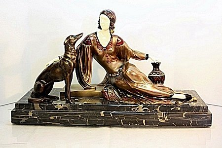 Desmona - Bronze and Ivory Sculpture by Chiparus
