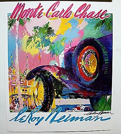 Monte Carlo Chase Double Signed By LeRoy Neiman AR210