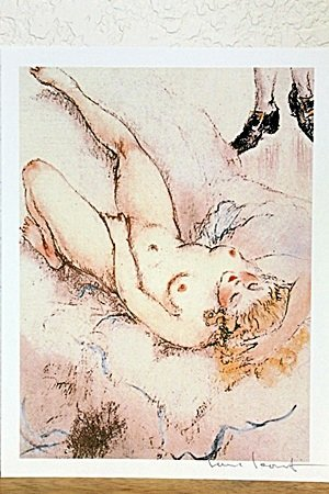 "Lithorgaph From "" La Reve"" By Louis Icart"