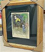 BY CHAGALL ORIGINAL LITHIOGRAPH SIGNED AR5176