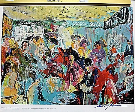 """Sidewalk Café"" Double Signed By LeRoy Neiman AR223"
