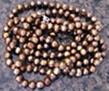 Chocolate Cultured Pearl Strand Necklace