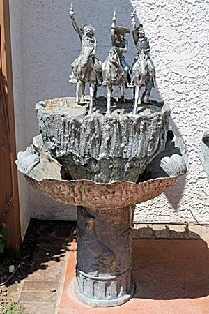 Extra Large Bronze Fountain-Coming Through The Rye By
