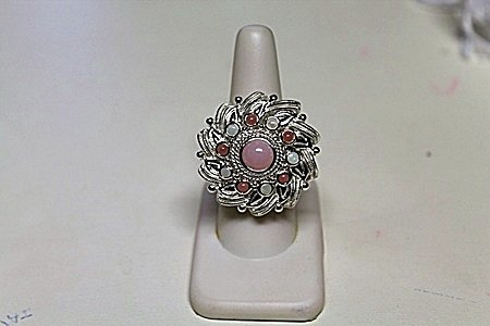 Lady's Beautiful Pink/Grey Sapphire Ring