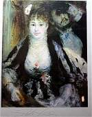 """By Renoir  """"The Loge"""" lithograph"""