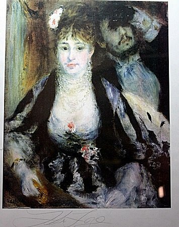 "By Renoir  ""The Loge"" lithograph"