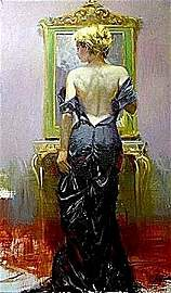 """By Pino """"EVENING ELEGANCE"""" Giclee on Canvas"""