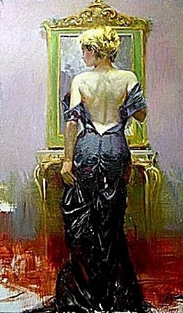 "By Pino ""EVENING ELEGANCE"" Giclee on Canvas"