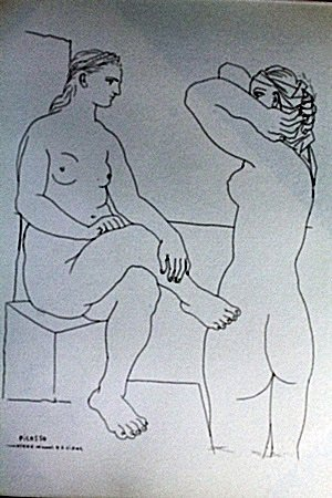 """""""Two Woman"""" Lithograph By Pablo Picasso (74DC)"""