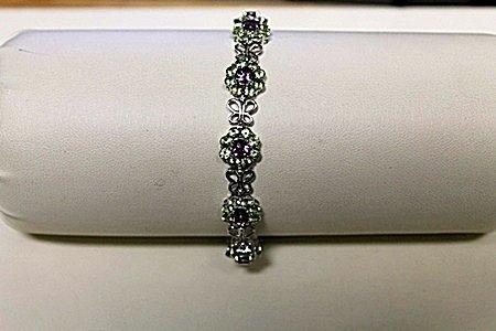 Beautiful Amideast Green Peridot Bracelet