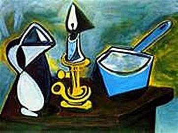 Still life with candle-Collection Domaine By Picasso