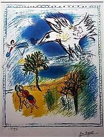 """By Chagall """"Grand Coriche"""" Ltd. Ed. Lithograph"""