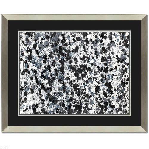 "Wyland ""Black and White 6"" Framed ORIGINAL Watercolor"