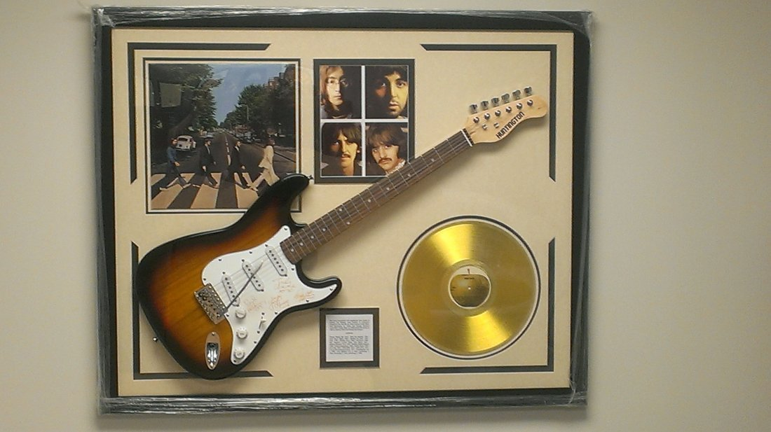"Beatles Autographed Guitar  ""Abbey Road"""