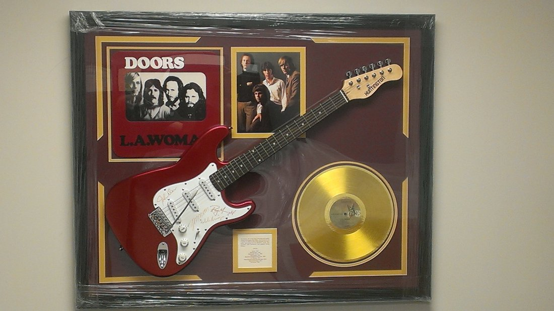 "The Doors Autographed Guitar  ""L.A. Woman"""