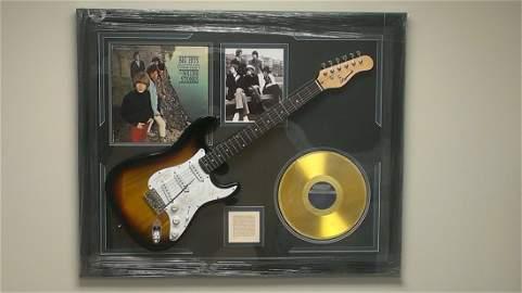 "Rolling Stones Autographed Guitar ""Big Hits"""