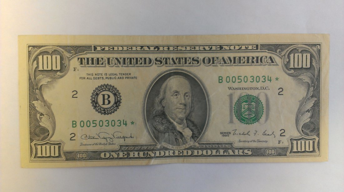 1990 $100 Star Note