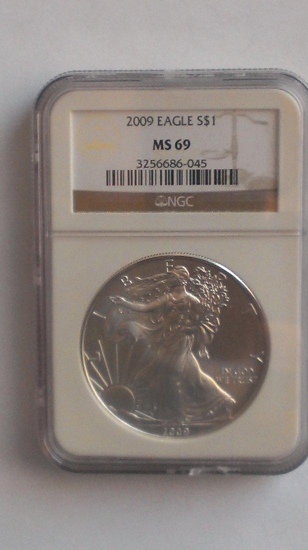 2009 Silver American Eagle NGC MS69 - 1 oz Silver