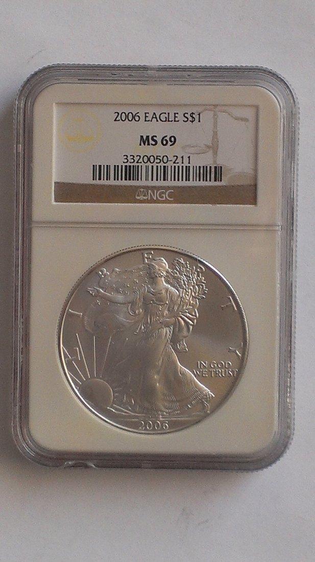 2006 Silver American Eagle NGC MS69 - 1 oz Silver