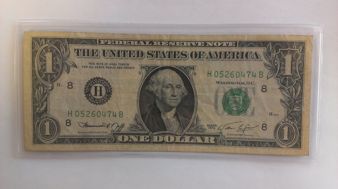 1974 $1 Note *OLD FACE*