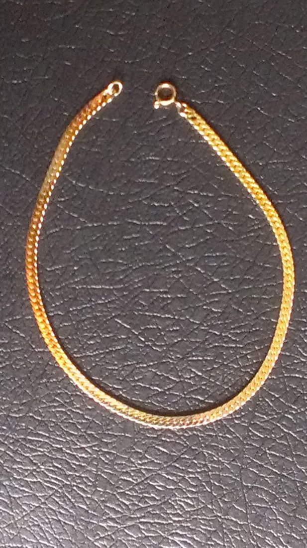 Herringbone 14K Gold Bracelet