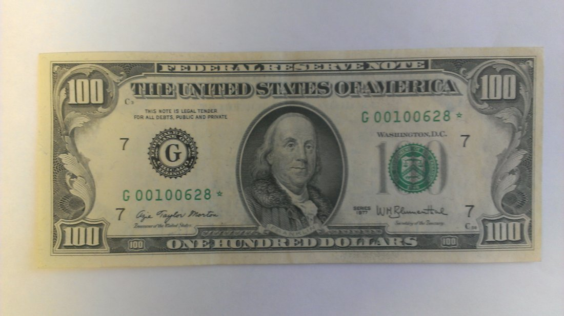 1977 $100 Star Note