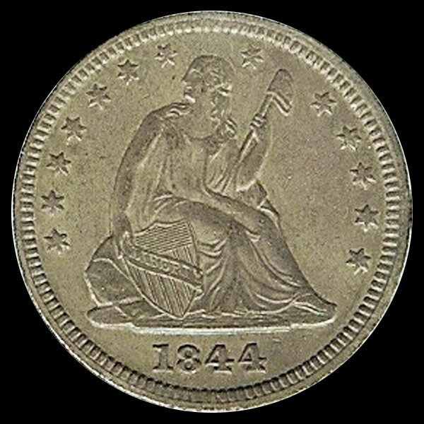 1844 US Seated 25c MS62