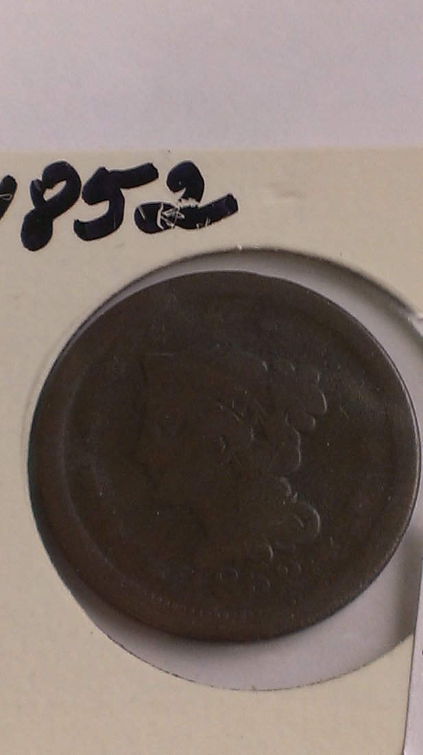 1852 US Large Cent REAR DATE