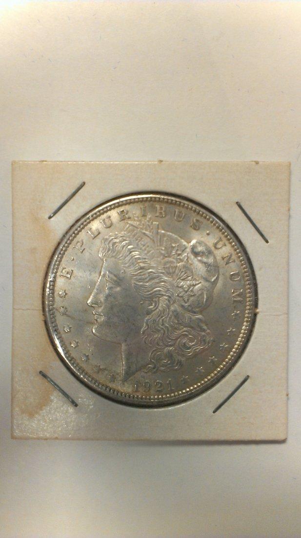 1921 Morgan Silver Dollar Great Detail