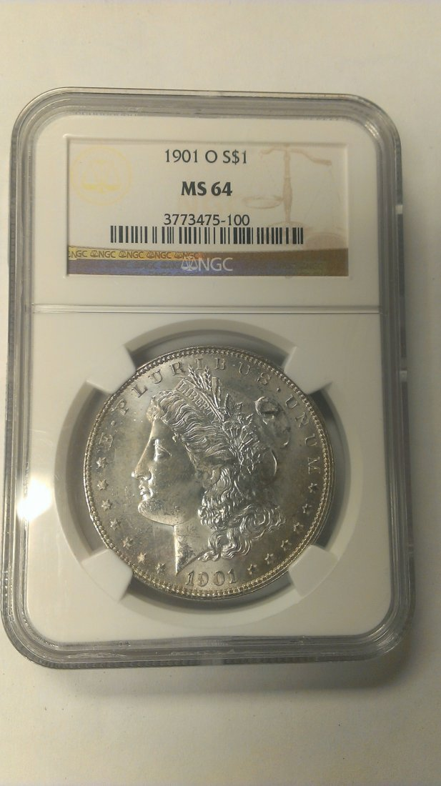 1901-0 Morgan Silver Dollar  NGC MS64