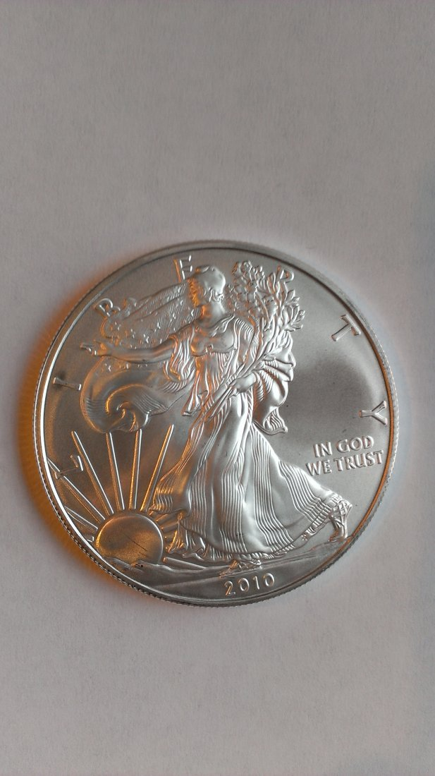 2010 Silver American Eagel Brilliant Uncirculated