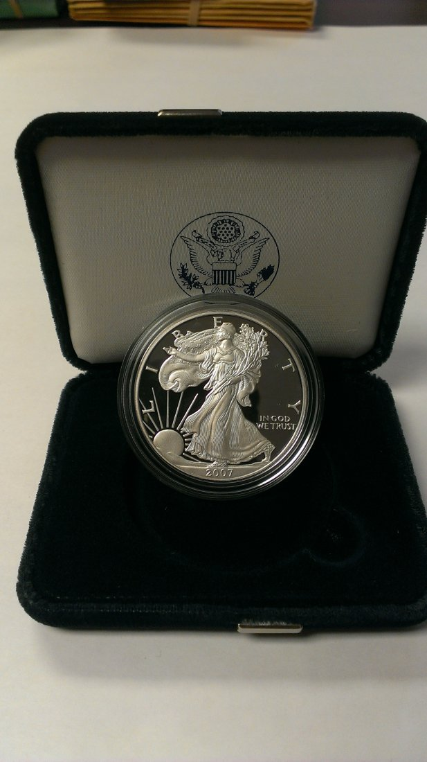 2007 W American Eagle Silver Dollar Proof W/Box