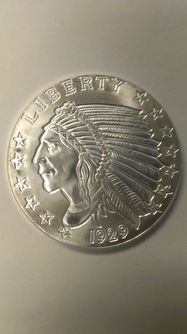 1929  Silver Indian Liberty Head Brilliant Uncirculated