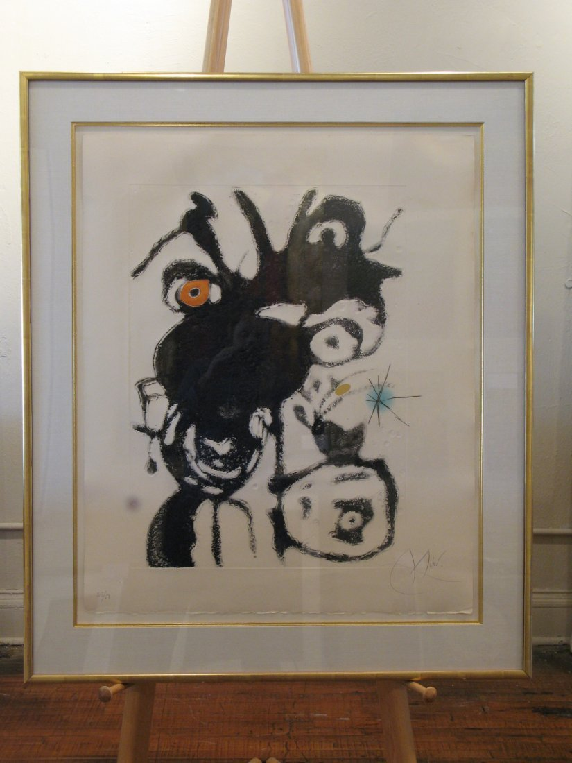 Joan Miro - D871 Untitled Aquatint from the Espriu Suit