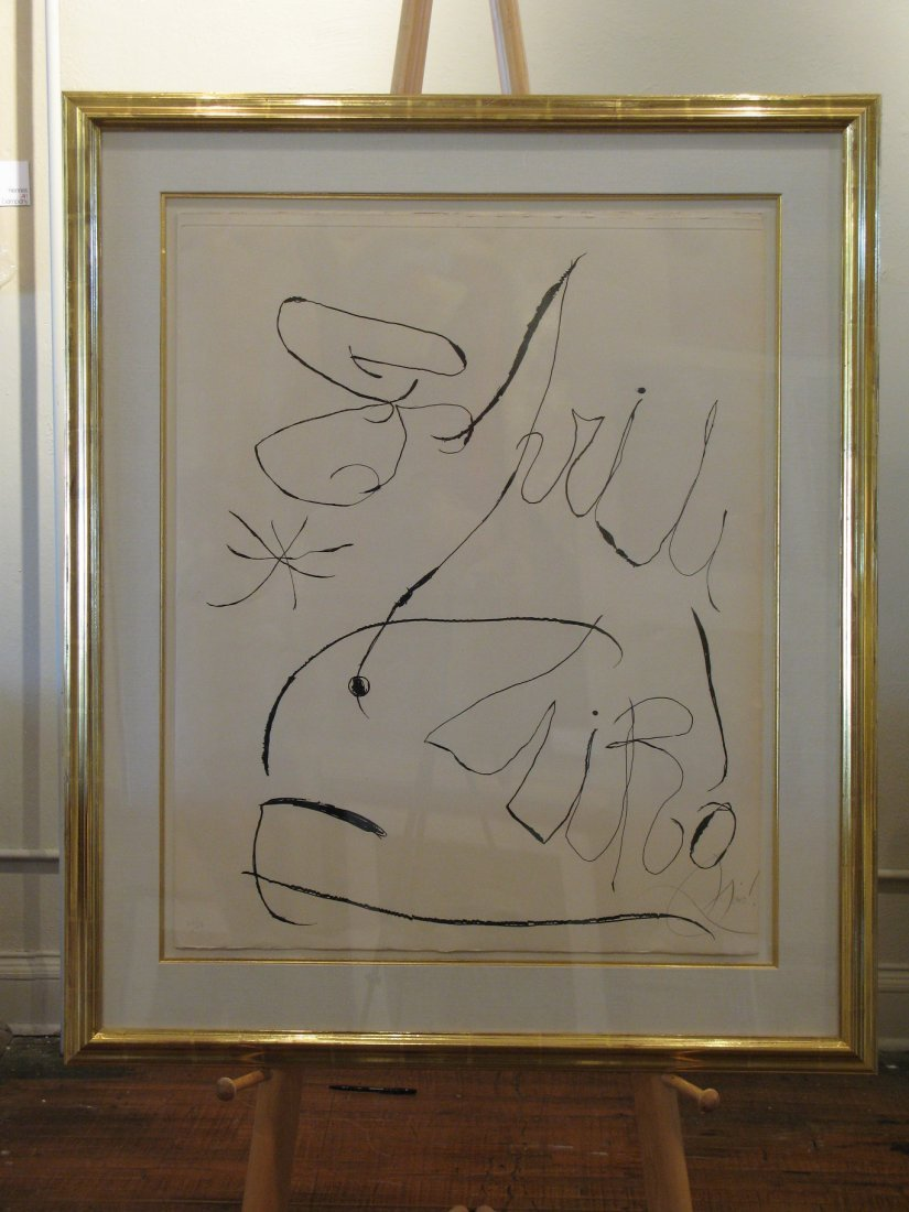 Joan Miro - D869 Untitled Aquatint from the Espiru Suit