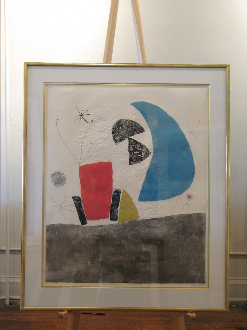 "Joan Miro - D876 ""Blue Half Tone""  from the Espiru Suit"