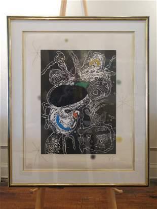 Joan Miro - D873 Untitled Aquatint from the Espiru Suit